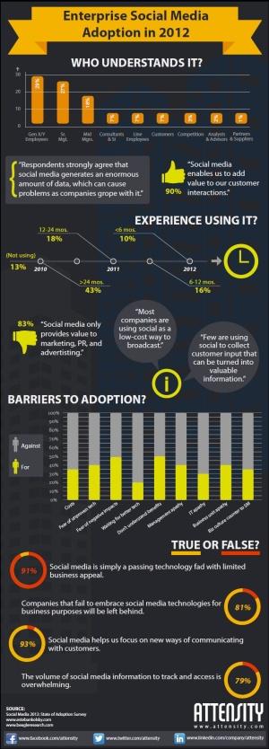 Enterprise social media adoption 2012