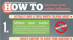 1.	How to Increase Your Online Influence